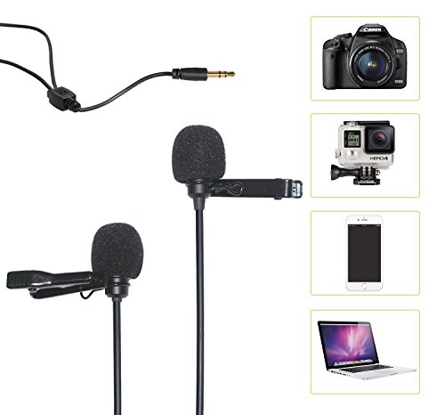 COMICA CVM-D02 Lavalier Mic Omnidirektionaler Kondensator Mini Clip Interview Youtube Mikrofon for Canon 5DIII Sony A7RII Panasonic GH4 GH5 Smartphone Apple Iphone6 Iphone7 GoPro3 GoPro4