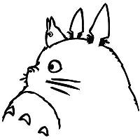 Totoro Ghibli Laputa Película Negro Adhesivo JDM Anime portátil Cristal Coche Ventana # 6 Free P