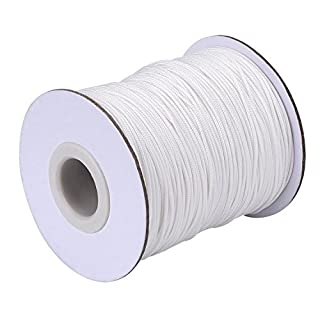 Lvcky 109 Yards/Roll White Braided Lift Shade Cord for Aluminum Blind Shade, Gardening Plant and Crafts (1.0 mm)