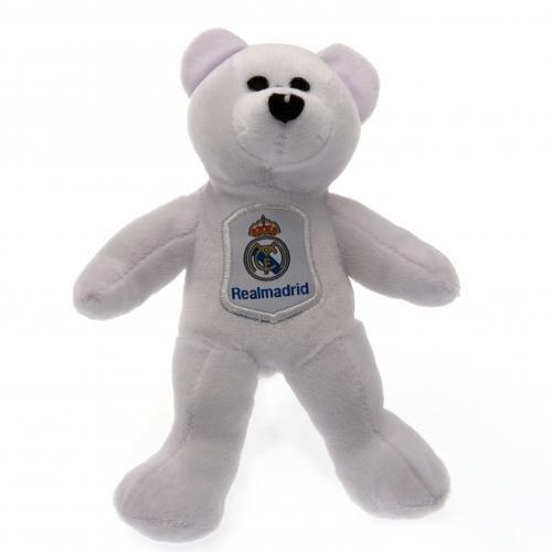 Madrid Plüsch (Real Madrid F.C. Mini-Plüsch Bär SB- geschnitzt soft touch genäht Eigenschaften- Das ca. 20, 5 cm hoch- einer Schaukel mit tag- Offizielles Fußball-Merchandising-Produkt)