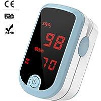 Oximeter Fingeroximeter mit großem Bildschirm messen Sauerstoffgehalt im Blut SpO2 und Pulsfrequenz (Oximeter LED)