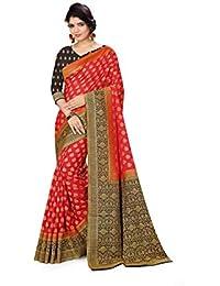 ARKITA Women's Silk Saree with Blouse Piece (Red)