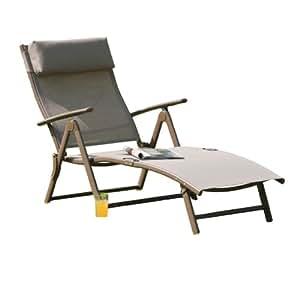 transcontinental group havana chaise longue en acier caf jardin. Black Bedroom Furniture Sets. Home Design Ideas