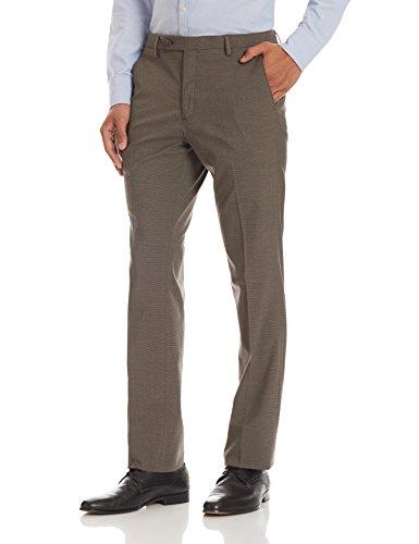 John Miller Men's Formal Trousers (8907372055138_1Ot23931_32W x 36L_Brown)