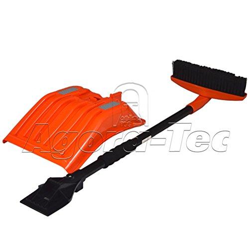 Agora-Tec® KFZ Winter Reinigungs Set 3tlg. bestehend aus Schneeschaufel, Eiskratzer & Schneefeger (Schneebesen)
