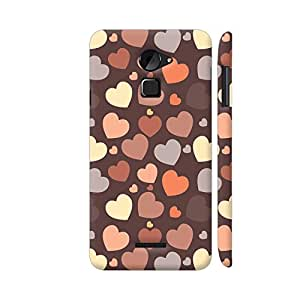 Colorpur Coolpad Note 3 Lite Cover - Chocolate Hearts On Brown Printed Back Case