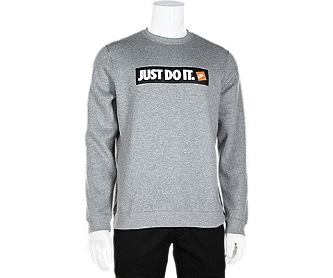 Nike Herren Crew Fleece HBR Longsleeve, Dark Grey Heather, M