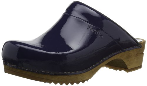 Sanita Classic Patent open, Damen Clogs Blau (Navy 29)