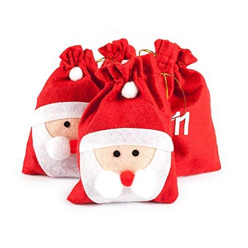 pajoma XXL Adventskalender Nikolaus, 24 Beutel zum Befüllen, Weihnachten
