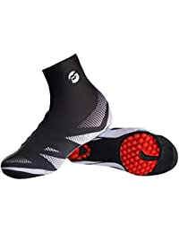Cubre Zapatos de Bicicleta, Vaxiuja Cubrezapatos Térmico Impermeable A Prueba de Viento Chanclos Protector MTB Bicicleta de MontañaCubiertas Reflectantes de Ciclismo a Prueba
