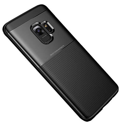 Dqueen-eur Galaxy S9 Hülle, 2 in 1 Hybrid Silikon Handyhülle Weiche TPU Schale mit PC Spleißen Zurück Schutzhülle Fallschutz Case Cover für Galaxy S9 5,8