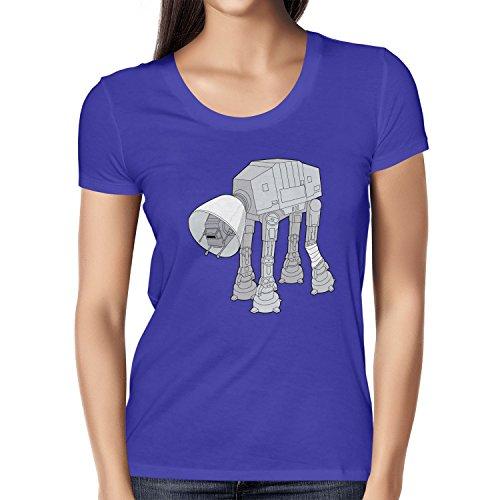 NERDO - Doggy AT-AT - Damen T-Shirt Marine