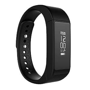 LaTEC Bluetooth 4.0 smart Bracciale Sportivo con Touch Screen OLED Wristband e attività Tracker con il pedometro per monitorare le fasi di calorie Salute ,Traccia messaggio push per Android e iPhone IOS (Nero)