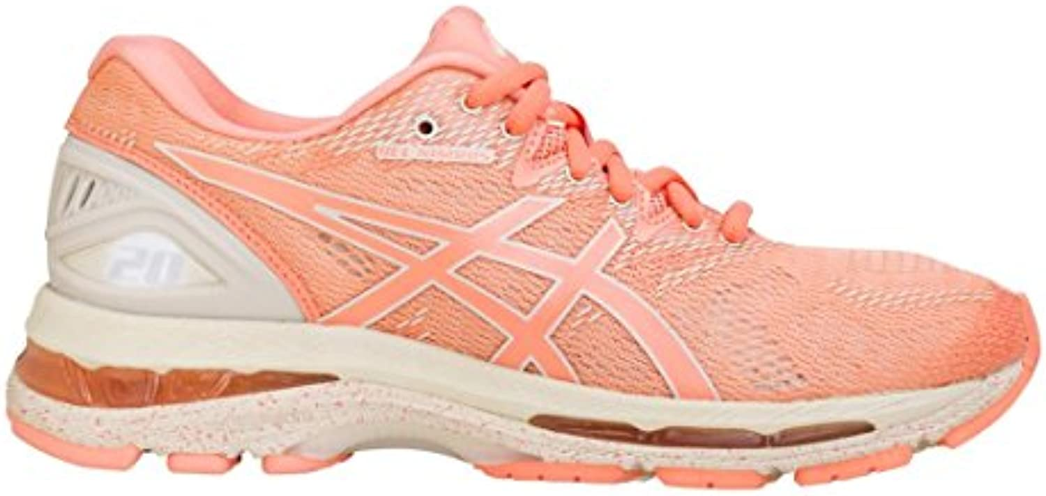 ASICS Women's Gel Nimbus 20 Running Shoes, Cherry/Coffee/Blossom, 11 Medium US