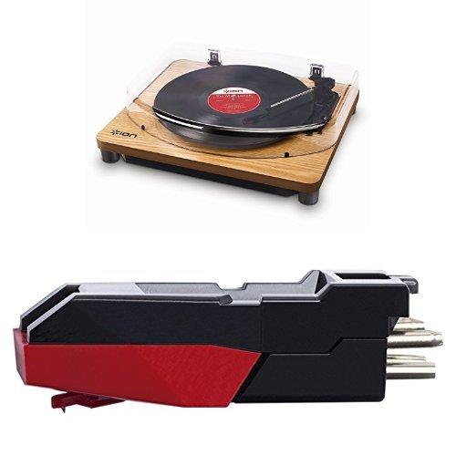 ION Audio Classic LP Giradischi Semiautomatico con Trazione a Cinghia e Testina con Puntina Preassemblata + USB e Software per Mac e PC Legno