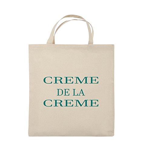 Buste Comedy - Creme De La Creme - Borsa In Juta - Manico Corto - 38x42cm - Colore: Nero / Rosa Naturale / Turchese