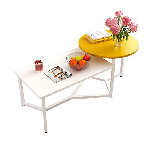 Table à thé Petite Table Basse Salon Simple Petite Table à côté du canapé Table à thé Mobile Petite Table à Balcon (Couleur : A)