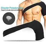 Filfeel Épaulière, support d'épaule réglable avec coussin de pression pour la prévention des blessures, entorse, douleur, tendinite et bursite