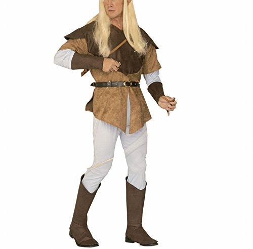 chsenenkostüm Bogenschütze Elf, Hemd mit Kasack, Hose, Gürtel und Stiefelbedeckung, Größe XL (Elf Kostüm Herr Der Ringe)