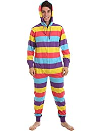 dfb625a367 Funzee Onesie Striped Festival One Piece All in One Non Footed Pyjamas