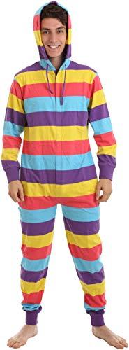 Funzee Einteiliger Schlafanzug, Festival Onesie Pyjama, Schlafoverall, Jumpsuit, Erwachsenenstrampler, Einteiler in körpergrößenabhängigen Unisexgrößen XS-XXL (Small)