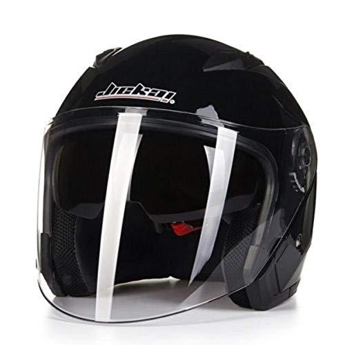 ZHIXX MALL Klapphelm Integralhelm ,Blendung Vermeiden Motorradhelm Roller Sturz Helm - Double Lens Helm (Schwarz, XXL)