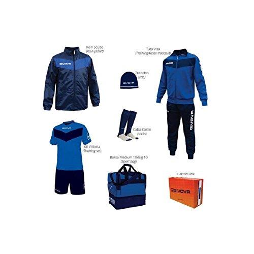 Givova Box Vittoria Kit Completo Calcio Royal/Blu