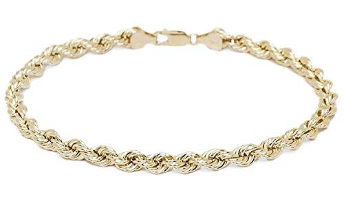 14 karat 585 Gold Kordel Armband Gelbgold 3.80 mm. Breit (21)