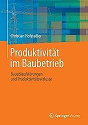 Produktivität im Baubetrieb: Bauablaufstörungen und Produktivitätsverluste (German Edition)