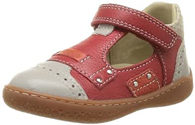 Mod8 Baby Girls' Wolf First Walking Shoes Red Rouge/Gris clair 20