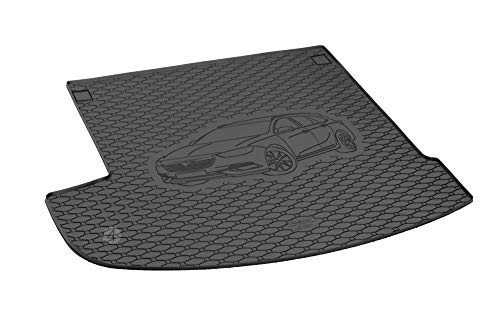 Passgenau Kofferraumwanne geeignet für Opel Insignia Sports Tourer/Kombi ab 2017 ideal angepasst schwarz Kofferraummatte