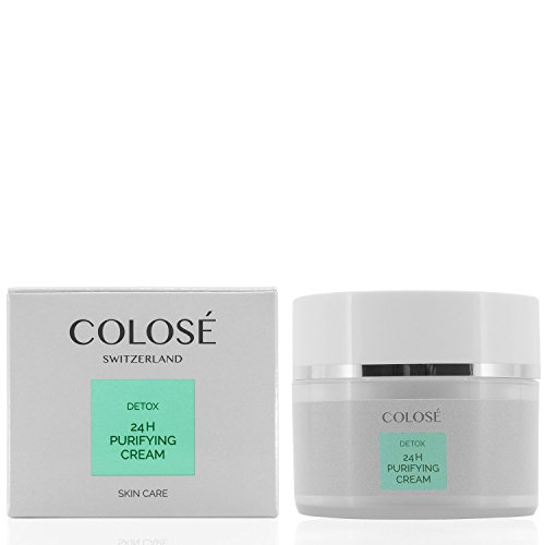24H PURIFYING CREAM Colosé ® / Reinigende Gesichtspflege / Anti-Aging Creme für jeden Hauttypen / Cleanser für zu Hautunreinheiten neigende Haut / Detox Skin Care 50 ml / Gesichtscreme für Mischhaut/ perfekte Reinigungscreme/ Purifying cleanser /Made in Switzerland -