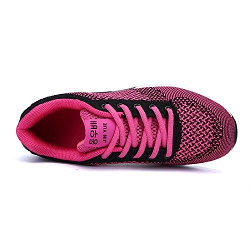 H-Mastery Chaussures de course running sport Compétition Gym Athlétique Baskets Chaussures de sport Femme EU 35-39 Rose
