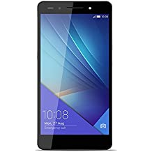 "Honor 7 - Smartphone libre de 5.2"" (4G, WiFi, Bluetooth, Dual Nano SIM, HiSilicon Kirin 935, 64 bit Super 8+1 Core, 2.2 GHz, 3 GB de RAM, 16 GB ROM, cámara de 20 MP/8 MP, Android 5.0 con EMUI 3.1), color gris"