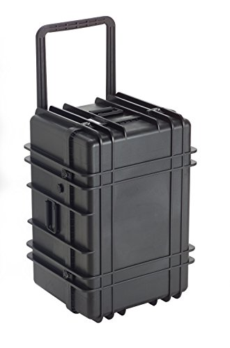 Underwater kinetics 5532-1627 loadout valigia, impermeabile, con ruote, vuoto, nero, 0