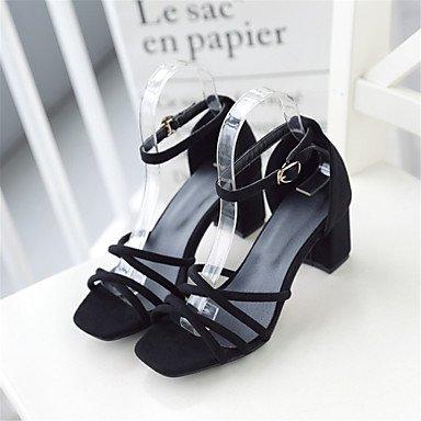 CatThief Damen-Sandalen-Hochzeit Kleid Lässig Party & Festivität-Vlies maßgeschneiderte Werkstoffe-Blockabsatz Block Ferse-Komfort Neuheit Gray