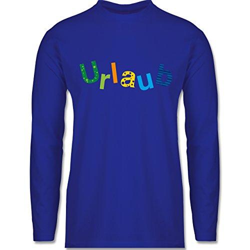 Shirtracer Statement Shirts - Urlaub - Herren Langarmshirt Royalblau