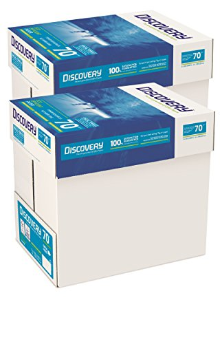 Discovery - Carta 70g/mq, formato A4 70 g/mq 10 x Reams (5,000 Sheets) - 2 x Boxes
