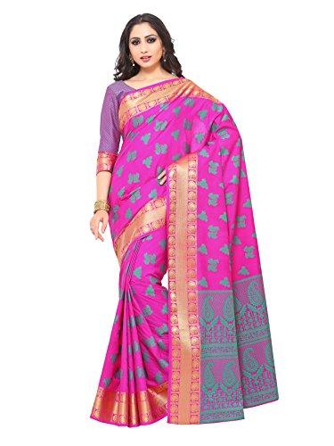 Mimosa Kanjivaram Style Art Silk saree color: Purple ( 4182-321-SD-GAJJ )
