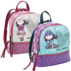 Clo' clo' - borsa zainetto piccolo per bambina- colore: verde multicolor