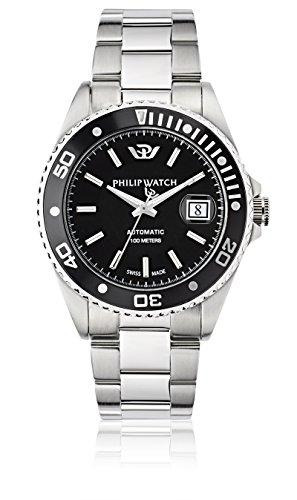 Philip Watch Orologio da uomo, Collezione Caribe, movimento automatico, funzione tempo e...