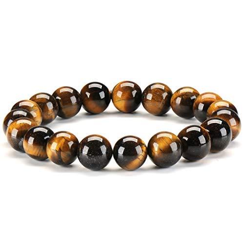 Tigerauge Stein Armband 10mm Kristall Edelstein Perlen Yoga Healing Energy Meditation Mala Buddhist Gebet Zen Buddhismus Armband für Männer und Frauen