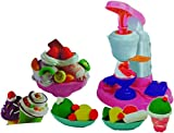 #2: Blossom DIY Ice-Cream Machine Toy with various 14 Colorful clays,Plates,Spoons,Machine Toy,Ice-Cream cups and other accessories for Kids to make Artificial Ice-creams,Multi Color.