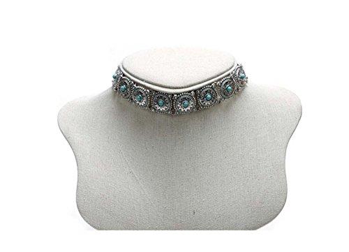Femmes Choker Rétro alliage tournesol collier Collier Vêtements accessoires silver blue