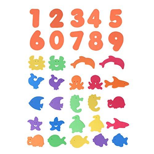aby Badespielzeug Fisch Anzahl Schaum Aufkleber Selbstklebende Schaum Aufkleber Lernspielzeug für Baby Kinder Kleinkinder ()