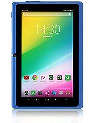 iRULU X1S - Tablet de 7 pulgadas, 1,3GHZ Quad-Core, 16 GB, Resolución HD de 1024x600, Google Android 4.4 , Certificado GMS de Google, Color Azul