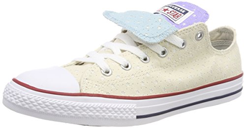 Converse Unisex-Kinder CTAS Double Tongue OX Driftwood Sneaker, Mehrfarbig Twilight Pulse/White 248, 35 EU - Converse Chuck Taylor Double Tongue