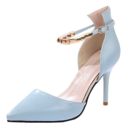 Minetom Donne Moda Cinturino Alla Caviglia Stilettos Scarpe A Punta