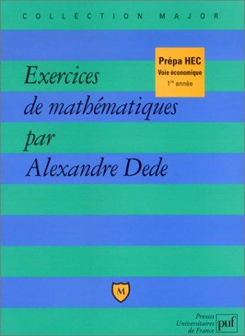 Exercices de mathématiques, Prépa HEC