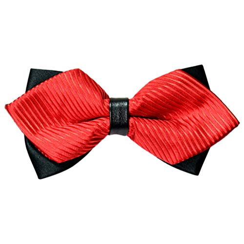 Xmiral Fliege Herren in 9 Rot Farben Schleife gebunden und verstellbar (12CM X 6CM) für die Hochzeit(C)